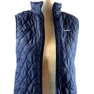 Reebok Small Quilted Vest Jacket Blue S Zip